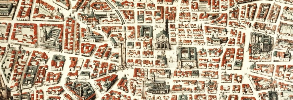 Particolare di Bononia Docet Mater Studiorum,Joan Blaeu 1663